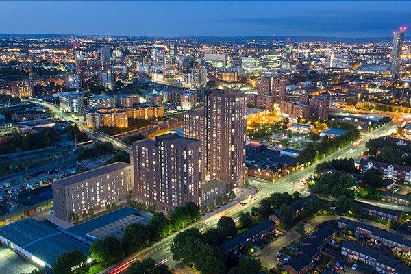 Regent Plaza at Night